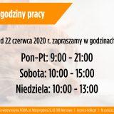 Nowe godziny pracy - czerwiec 2020 - Przychodnia weterynaryjna Fiolka Warszawa